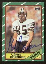 Hoby Brenner signed autograph 1986 Topps Football Card
