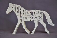 Chinese New Year of the Horse Wood Amish Made PuzzleTack Room Toy