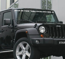 If You Can Read This Roll Me Over decal sticker window banner windshield