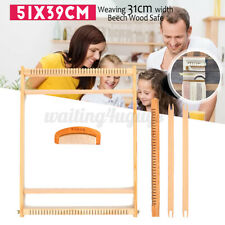 Weaving Loom Kit Wooden Tapestry Hand-Knitted Machine Diy Craft Woven Set