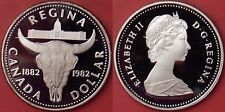 Proof 1982 Canada Regina Silver 1 Dollar From Mint's Set