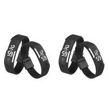 2X Mens Womens Kids Sports Digital Silicone Rubber LED Bracelet Wrist Watch Cool