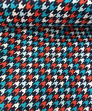 "DOG TOOTH print 100% cotton​ Fabric 45 ""wide sold/PER METRE/"