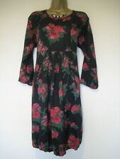 Masai black red and green floral dress size Medium