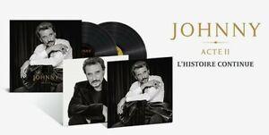 Johnny Hallyday Acte II EDITION LIMITEE 2LPS/Vinyles + 02 PHOTOS NEUF