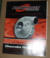 ProCharger  Superchargers Chevrolet Product Catalog USA 2004 Edition RARE