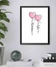 Valentines Cute Personlised Couple Print Anniversary Wedding Gift Boyfriend Wife