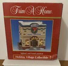 VINTAGE TRIM A HOME HOLIDAY VILLAGE COLLECTIBLE GRAND THEATER 1993 KMART