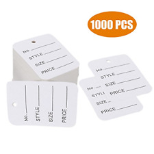 1000 Pcs Price Tags, Clothes Size Tags Coupon Tags Making Tag White Store Tags X