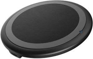 Wireless Charger, 10W Max Qi-Certified Fast Wireless Charging Pad Compatible