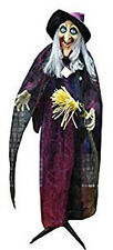 """New Spooktacular Spooky Creepy Halloween Decorations Witch Standing Animated 72"""""""