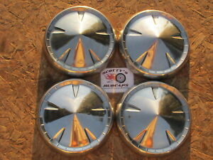 1959 PLYMOUTH SUBURBAN ~POVERTY~ DOG DISH HUBCAPS, SET OF 4