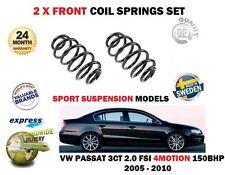 PER VW PASSAT 4 MOTO 2.0 FSI 150BHP 4X4 SPORT 05-10 2 x ANTERIORE BOBINA MOLLE