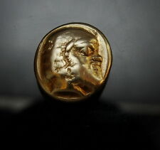 The Famous Satyr Silenos. Very rare. Ancient Greek gold coin.Similar sold $2,200