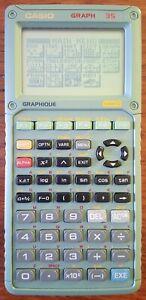 Calculatrice CASIO Graph 35 + câble SB-62 + Manuel - VINTAGE