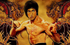 A4 Poster - Bruce Lee in Enter the Dragon (Picture Poster Art Kung Fu MMA)