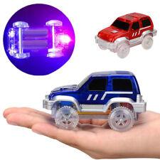 360 MAGIC TRACKS LED LIGHT UP RACE CAR Glow In The Dark Bend Flex ON TV Toy AU