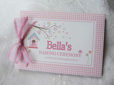 PERSONALISED GIRLS CHRISTENING/ NAMING DAY / BIRTHDAY ETC ... GUEST BOOK