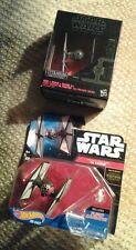 Star Wars 2015 Black Series Titanium & Hot Wheels 2 First Order TIE Fighters Lot