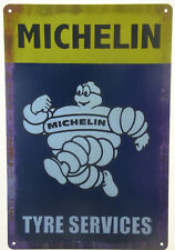 "Michelin Man Bibendum Garage Tyre Service Retro Metal Tin Sign Plaque 8x12"" NEW"