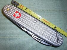 WENGER DELEMONT Pocket Knife 4-Blade Aluminum Handle Stainless Swiss Army Tool