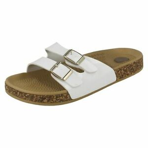 Ladies Spot On Two Buckle - Mules