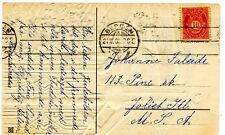 1908 Bergen Norwy Norge Cover to Joliet IL USA on embossed postcard