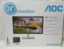 "AOC HDMI VGA Ultra-Slim LED IPS LCD 24"" Monitor 1080p Widescreen I2476VWM"