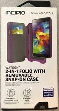 New OEM Incipio Watson Purple Wallet Folio Case For Samsung Galaxy S5