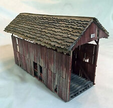 50' QUEEN POST COVERED BRIDGE O Model Railroad Structure Wood Kit HL114OSG