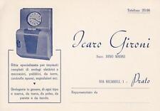 Z657) PRATO, ICARO GIRONI, OROLOGI ELETTRICI E MECCANICI.