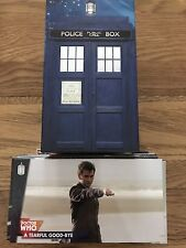 Topps Dr Who The Tenth Doctor Adventures 88 Card Widevision Set With Tardis Box