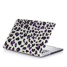 "Rubberized Hard Matte Case Cover For Macbook Pro 15"" A1398 Retina Leopard Purple"