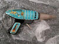 Pistola Hojalta Años 60s Antigua Espacial , Space Gun  Vintage Tin Toys