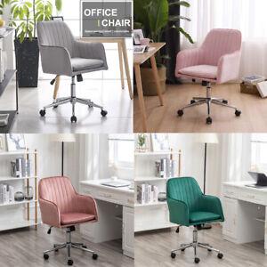 Velvet Office Chair Ergonomic Executive Chair Swivel Home Computer Desk Chair UK