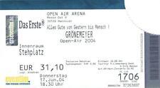 Herbert Grönemeyer Open Air 2004 - Konzertticket vom 17.06.2004 Hannover #3607