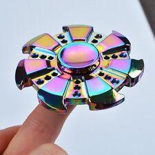 Tri-Spinner Figet Spinners Hand Desk Rainbow Steel Focus Handmade Toy ADHD UFO