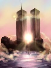Twin Towers - America New York History Remember Iconic Poster / Canvas Pictures