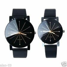 LACACA ~ VALENTINES DAY ~ HIS & HERS WRIST WATCH SET ~ QUARTZ DIAL LEATHER BAND
