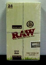 Raw Organic 1 1/4 Rolling Paper Box Of 24 (50 leaves per pack)~Sealed~SALE