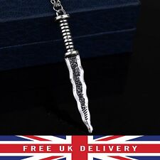 New Silver Rumpelstiltskin Dagger Once Upon A Time Pendant Necklace TV Series