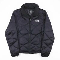 Vintage THE NORTH FACE Black Quilted Goose-Down Jacket Size Womens Small