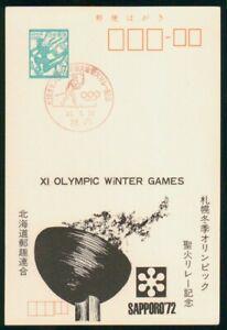 Mayfairstamps Japan Olympic Rings Skiing Card wwm_87399
