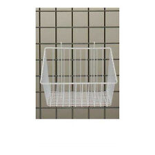 """Count of 3 White Mini-Grid Basket with 4"""" Front 12""""L x 12""""W x 8""""D"""