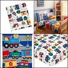 Kids Toddler Bedding Full Sets Trains Sheets Cover with Pillowcases For Boys Bed