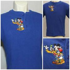 "Disney Store Boys Polo Mickey Mouse Goofy Lg 14/16 Tshirt 19"" Pit2Pit DC-166"