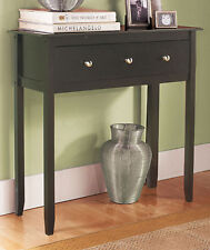 Black Espresso CONSOLE TABLE w Storage Furniture Accent Table Entryway Hallway