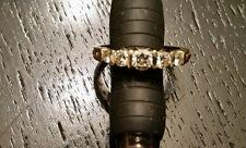 18K NOT 14K WHITE & YELLOW GOLD DIAMOND RING ENGAGEMENT OR WEDDING BAND SIZE 6.5