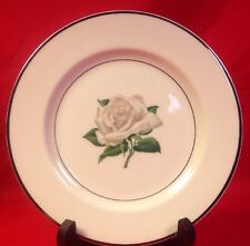 Kirk China Dessert Plate-White Rose Pattern