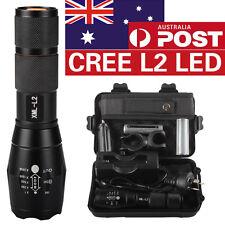 AU 8000LM Shadowhawk X800 CREE L2 LED ZOOM Flashlight Torch + power battery
